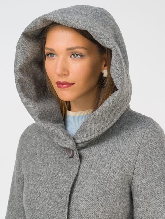 Текстильное пальто 35% шерсть, 65% полиэстер, цвет светло-серый, арт. 29810656  - цена 5890 руб.  - магазин TOTOGROUP