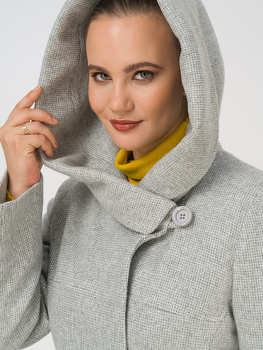 Текстильное пальто 35% шерсть, 65% полиэстер, цвет светло-серый, арт. 29810666  - цена 6990 руб.  - магазин TOTOGROUP