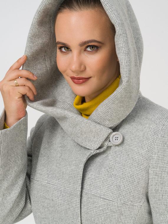 Текстильное пальто 35% шерсть, 65% полиэстер, цвет светло-серый, арт. 29810666  - цена 8990 руб.  - магазин TOTOGROUP