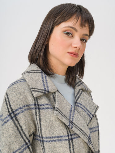 Текстильное пальто 70% полиэстер, 20% шесть, 10% вискоза, цвет светло-серый, арт. 29810867  - цена 6630 руб.  - магазин TOTOGROUP
