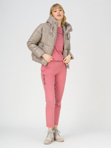 Кожаная куртка эко-кожа 100% П/А, цвет светло-серый, арт. 29811209  - цена 3990 руб.  - магазин TOTOGROUP