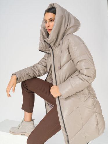 Кожаная куртка эко-кожа 100% П/А, цвет светло-серый, арт. 29811211  - цена 4990 руб.  - магазин TOTOGROUP