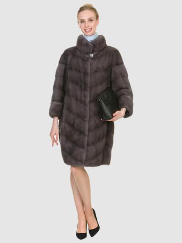 Шуба из норки мех норка, цвет светло-серый, арт. 29900866  - цена 94990 руб.  - магазин TOTOGROUP