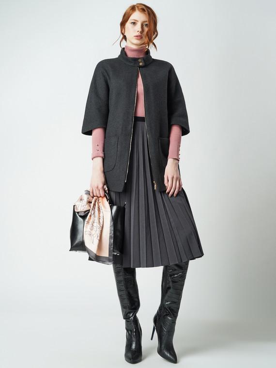 Текстильное пальто 30%шерсть, 70% п\а, цвет темно-серый, арт. 30005824  - цена 4260 руб.  - магазин TOTOGROUP