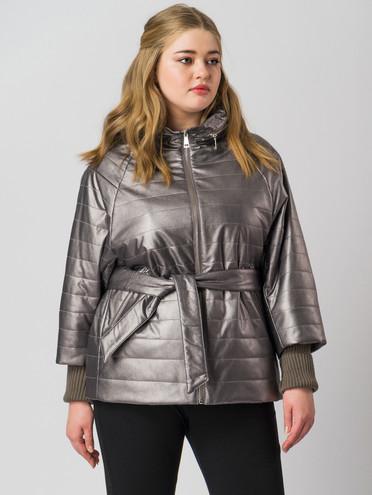 Кожаная куртка эко-кожа 100% П/А, цвет темно-серый, арт. 30005937  - цена 4490 руб.  - магазин TOTOGROUP