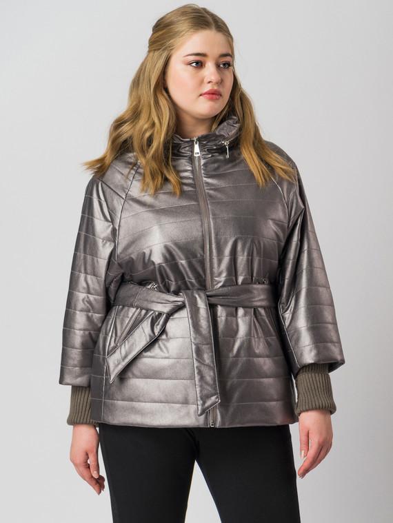 Кожаная куртка эко кожа 100% П/А, цвет темно-серый, арт. 30005937  - цена 5890 руб.  - магазин TOTOGROUP