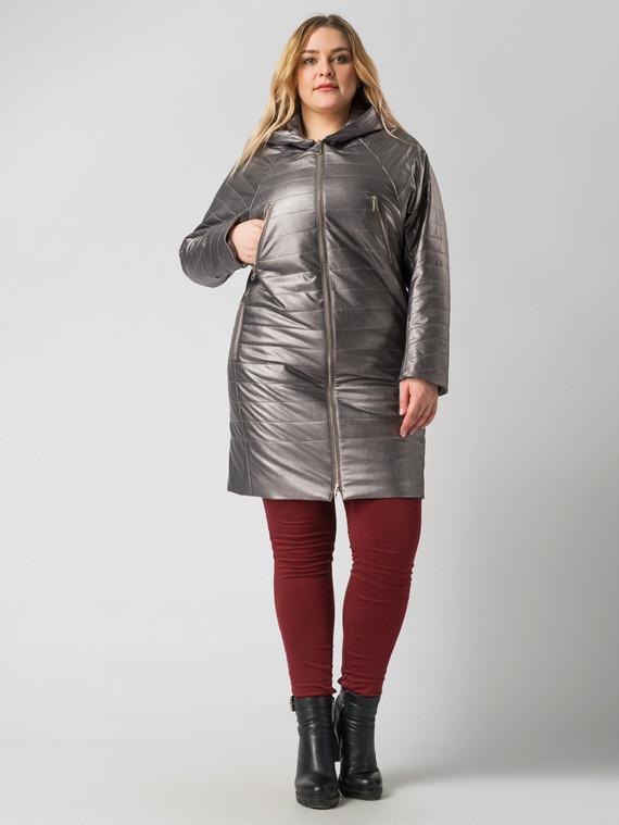 Кожаное пальто эко кожа 100% П/А, цвет серый металлик, арт. 30005938  - цена 6290 руб.  - магазин TOTOGROUP