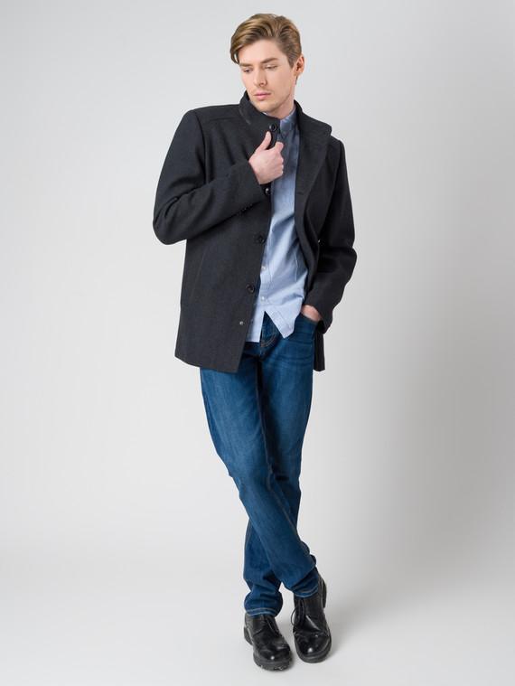 Текстильная куртка 51% п/э,49%шерсть, цвет темно-серый, арт. 30005947  - цена 2690 руб.  - магазин TOTOGROUP