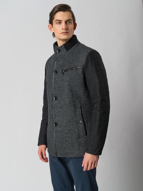 Текстильная куртка 51% п/э,49%шерсть, цвет темно-серый, арт. 30005949  - цена 6290 руб.  - магазин TOTOGROUP