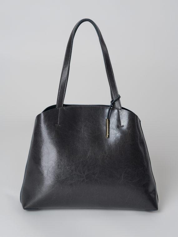 Сумка кожа теленок, цвет темно-серый, арт. 30005997  - цена 4740 руб.  - магазин TOTOGROUP
