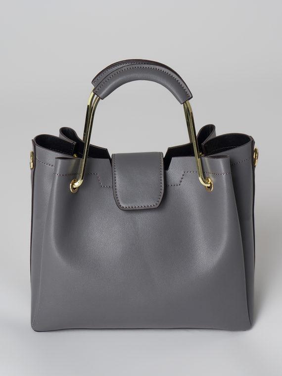 Сумка кожа теленок, цвет темно-серый, арт. 30006000  - цена 5290 руб.  - магазин TOTOGROUP
