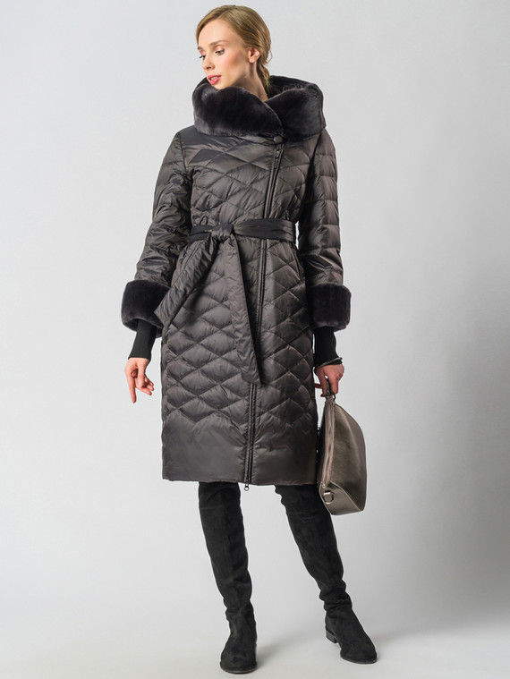Пуховик текстиль, цвет темно-коричневый, арт. 30006357  - цена 29990 руб.  - магазин TOTOGROUP