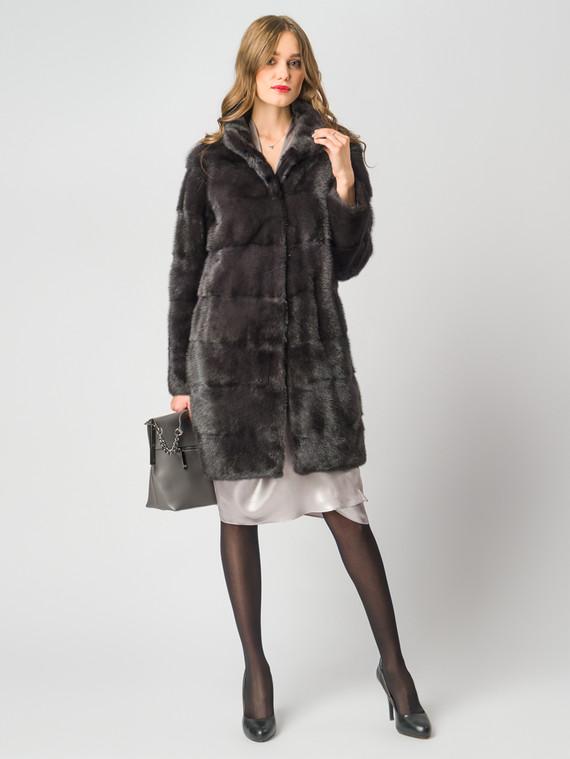 Шуба из норки мех норка, цвет темно-серый, арт. 30006411  - цена 105990 руб.  - магазин TOTOGROUP