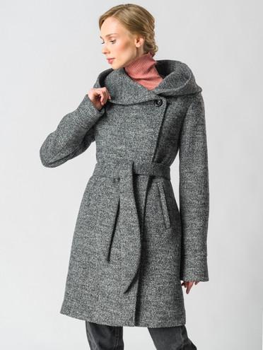 Текстильное пальто 30%шерсть, 70% п\а, цвет серый, арт. 30006605  - цена 7490 руб.  - магазин TOTOGROUP