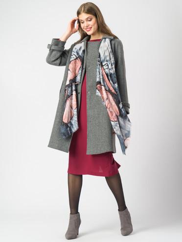 Текстильное пальто 30%шерсть, 70% п.э, цвет серый, арт. 30006820  - цена 4490 руб.  - магазин TOTOGROUP