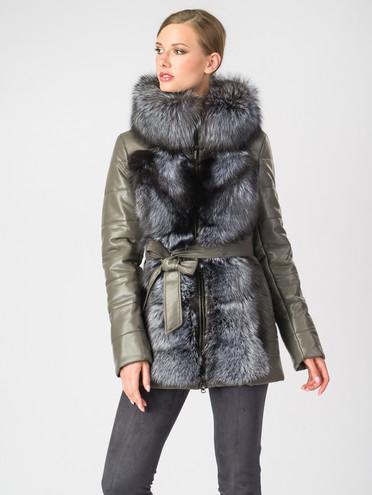 Кожаная куртка эко-кожа 100% П/А, цвет серый, арт. 30006866  - цена 7990 руб.  - магазин TOTOGROUP