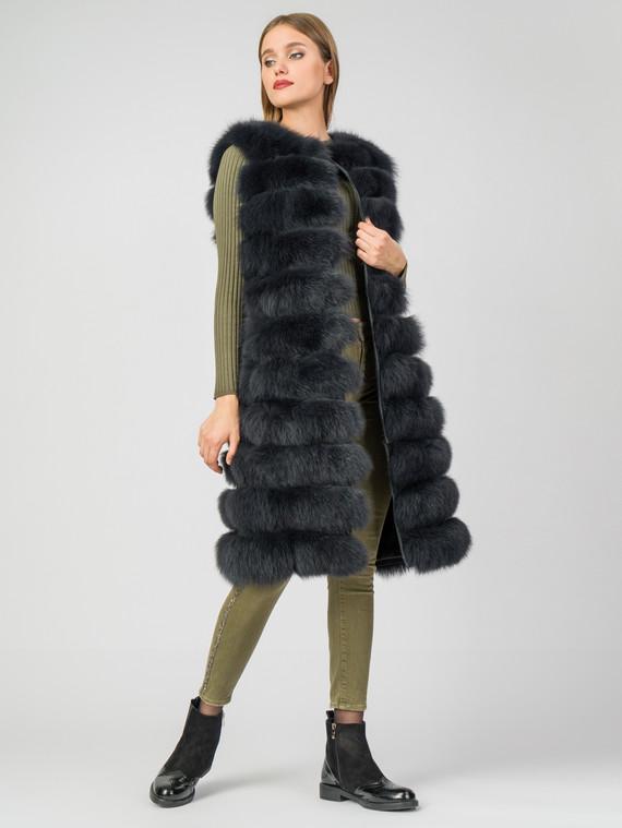 Меховой жилет мех песец, цвет темно-серый, арт. 30006869  - цена 25590 руб.  - магазин TOTOGROUP