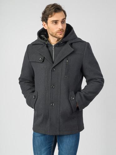 Текстильное пальто 51% п/э,49%шерсть, цвет темно-серый, арт. 30007028  - цена 4740 руб.  - магазин TOTOGROUP