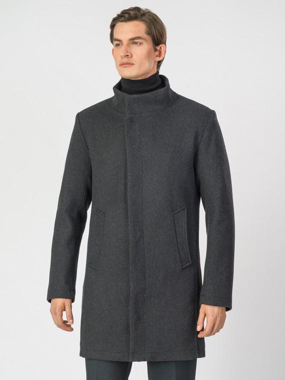 Текстильное пальто 51% п/э,49%шерсть, цвет темно-серый, арт. 30007029  - цена 4990 руб.  - магазин TOTOGROUP