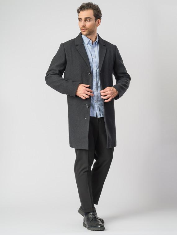 Текстильное пальто 51% п/э,49%шерсть, цвет темно-серый, арт. 30007030  - цена 4740 руб.  - магазин TOTOGROUP