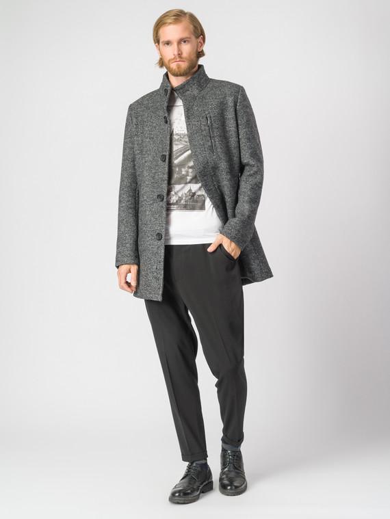 Текстильное пальто 51% п/э,49%шерсть, цвет серый, арт. 30007033  - цена 7990 руб.  - магазин TOTOGROUP