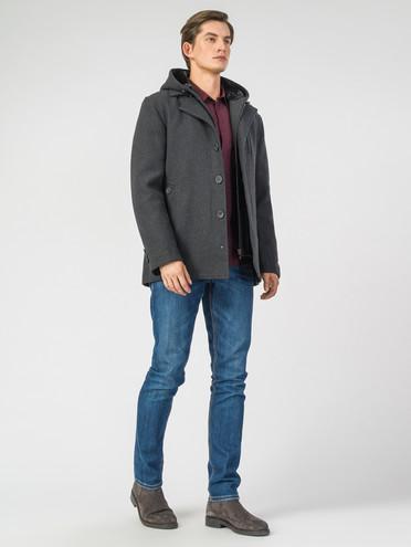 Текстильное пальто 51% п/э,49%шерсть, цвет темно-серый, арт. 30007035  - цена 4740 руб.  - магазин TOTOGROUP