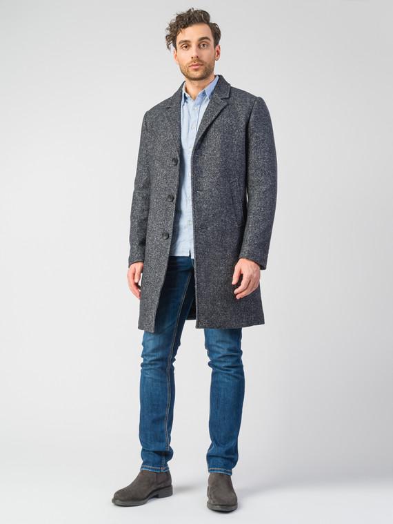 Текстильное пальто 51% п/э,49%шерсть, цвет темно-серый, арт. 30007038  - цена 7490 руб.  - магазин TOTOGROUP