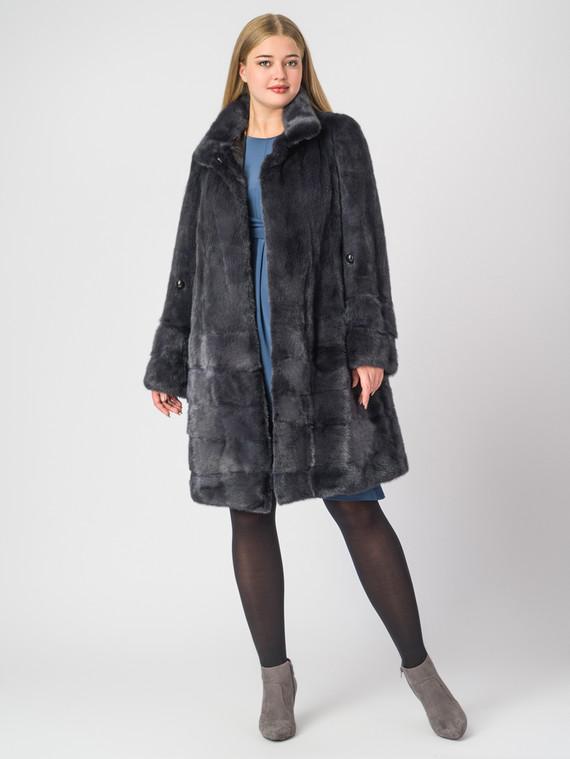 Шуба из норки мех норка, цвет темно-серый, арт. 30007048  - цена 112990 руб.  - магазин TOTOGROUP