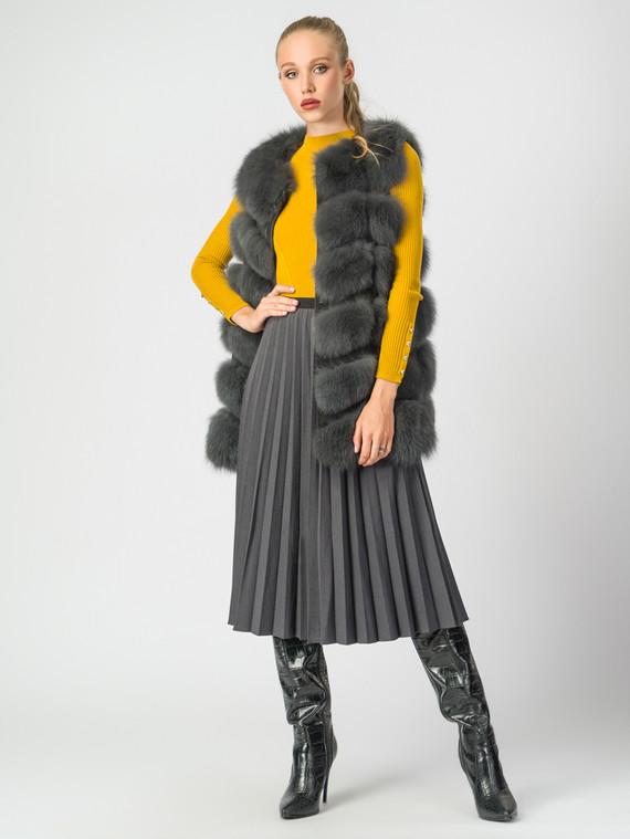Меховой жилет мех песец, цвет серый, арт. 30007053  - цена 15990 руб.  - магазин TOTOGROUP