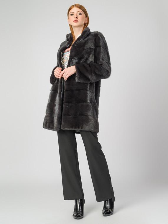 Шуба из норки мех норка, цвет темно-серый, арт. 30007137  - цена 94990 руб.  - магазин TOTOGROUP
