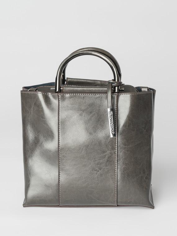 Сумка кожа теленок, цвет темно-серый, арт. 30007373  - цена 5890 руб.  - магазин TOTOGROUP