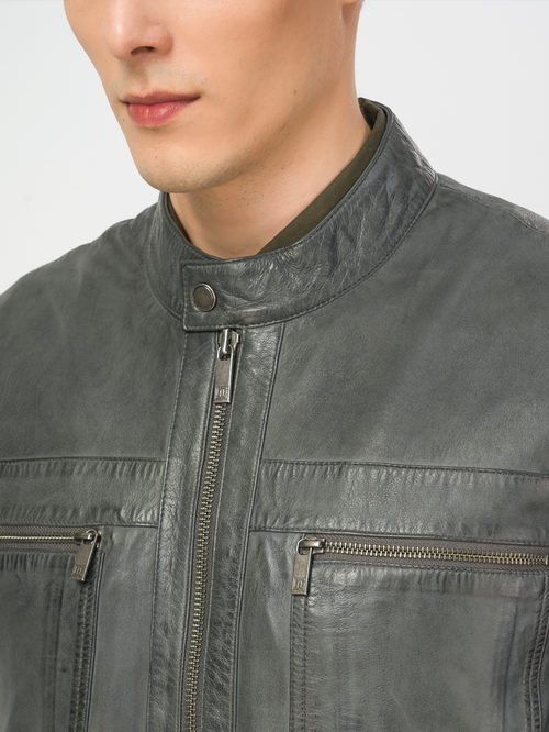 Кожаная куртка артикул 30106172/46 - фото 4
