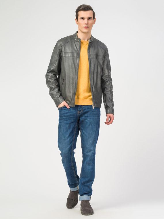 Кожаная куртка кожа , цвет темно-серый, арт. 30106174  - цена 11990 руб.  - магазин TOTOGROUP