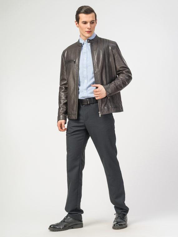 Кожаная куртка кожа , цвет темно-серый, арт. 30106188  - цена 11990 руб.  - магазин TOTOGROUP