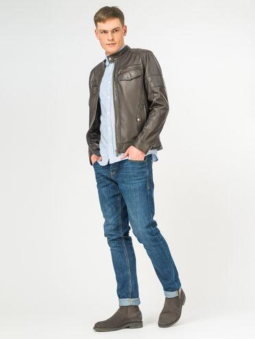 Кожаная куртка кожа , цвет темно-коричневый, арт. 30106189  - цена 12690 руб.  - магазин TOTOGROUP