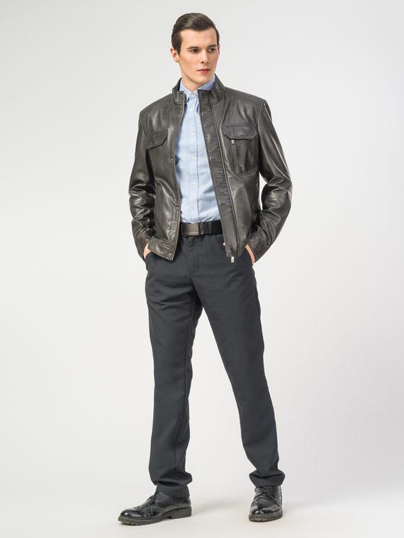 Кожаная куртка кожа , цвет темно-серый, арт. 30106196  - цена 12690 руб.  - магазин TOTOGROUP