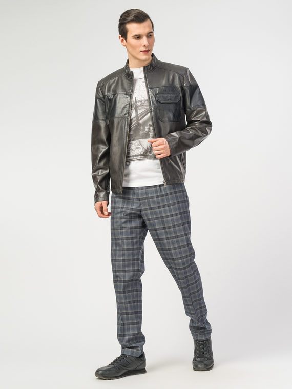 Кожаная куртка кожа , цвет темно-серый, арт. 30106198  - цена 10590 руб.  - магазин TOTOGROUP