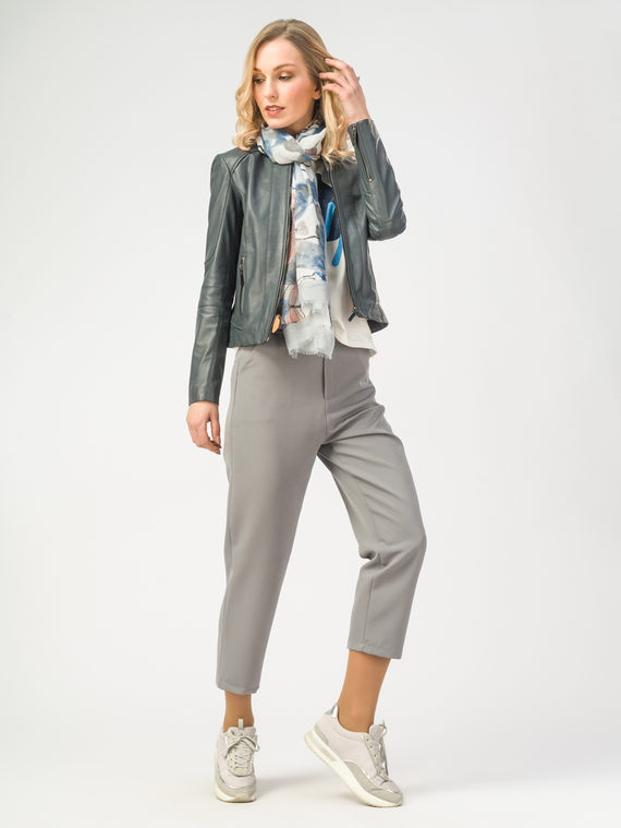 Кожаная куртка кожа , цвет темно-серый, арт. 30106213  - цена 6990 руб.  - магазин TOTOGROUP