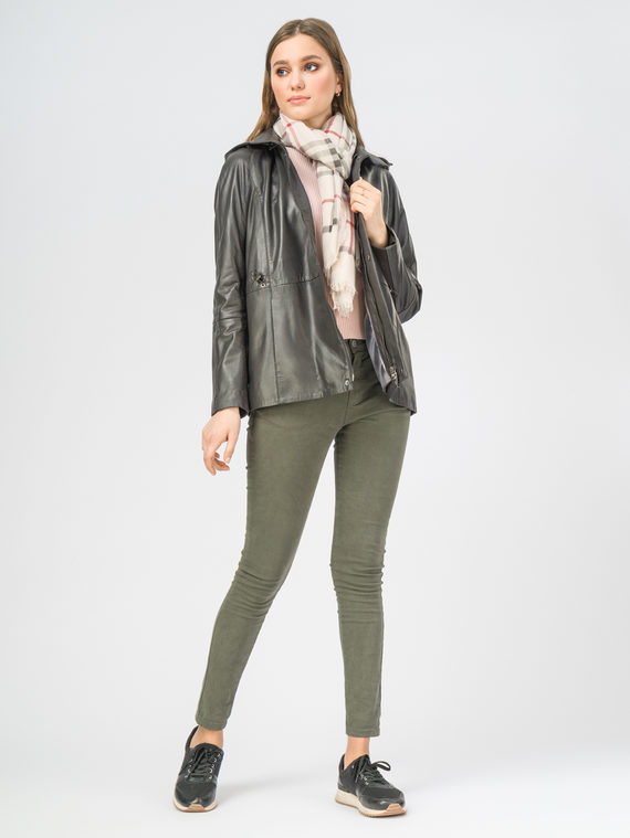 Кожаная куртка кожа , цвет темно-серый, арт. 30106264  - цена 9990 руб.  - магазин TOTOGROUP