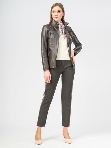 Кожаная куртка кожа , цвет темно-серый, арт. 30106266  - цена 8490 руб.  - магазин TOTOGROUP
