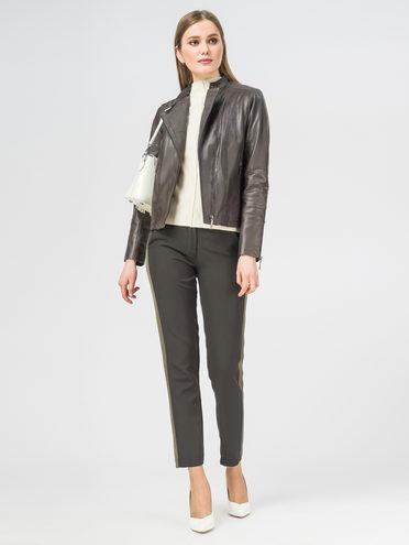 Кожаная куртка кожа , цвет темно-серый, арт. 30106308  - цена 9490 руб.  - магазин TOTOGROUP