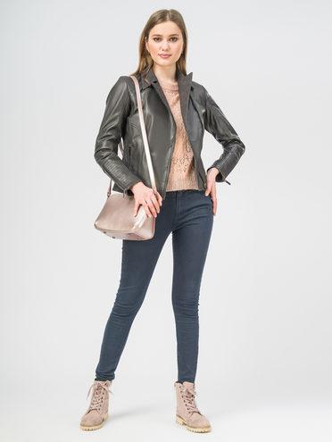 Кожаная куртка кожа , цвет темно-серый, арт. 30106312  - цена 7490 руб.  - магазин TOTOGROUP