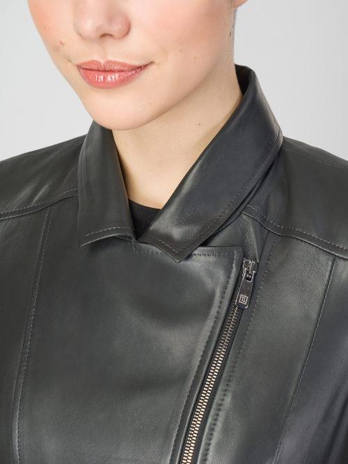 Кожаная куртка артикул 30106320/48 - фото 4