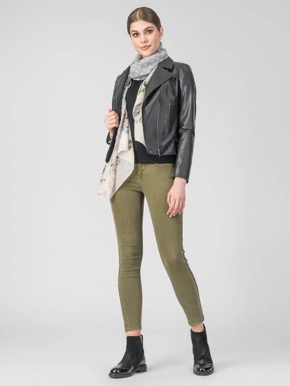 Кожаная куртка кожа , цвет темно-серый, арт. 30106320  - цена 11290 руб.  - магазин TOTOGROUP