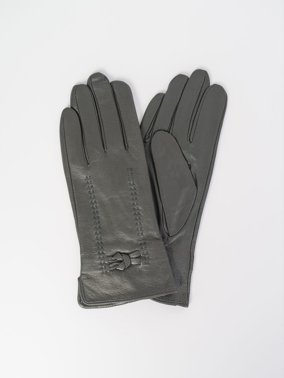 Перчатки кожа , цвет темно-серый, арт. 30107983  - цена 990 руб.  - магазин TOTOGROUP