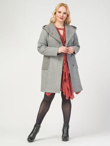 Текстильное пальто 30%шерсть, 70% п.э, цвет серый, арт. 30108079  - цена 5290 руб.  - магазин TOTOGROUP