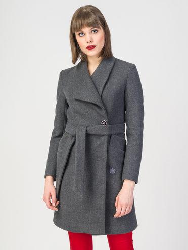 Текстильное пальто 30%шерсть, 70% п.э, цвет темно-серый, арт. 30108086  - цена 3390 руб.  - магазин TOTOGROUP