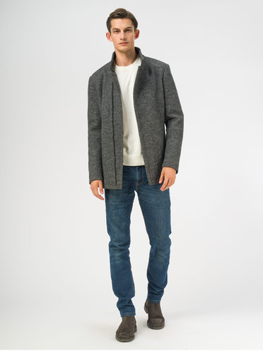 Текстильное пальто 49% шерсть, 51% п.э, цвет темно-серый, арт. 30108965  - цена 7990 руб.  - магазин TOTOGROUP