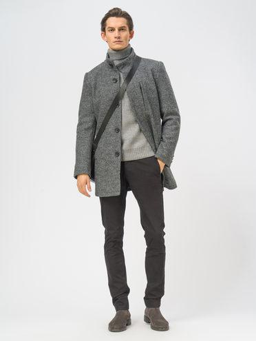 Текстильное пальто 49% шерсть, 51% п.э, цвет темно-серый, арт. 30108966  - цена 6990 руб.  - магазин TOTOGROUP