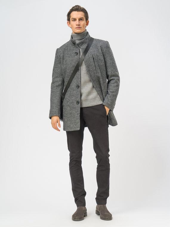 Текстильное пальто 49% шерсть, 51% п.э, цвет темно-серый, арт. 30108966  - цена 5290 руб.  - магазин TOTOGROUP